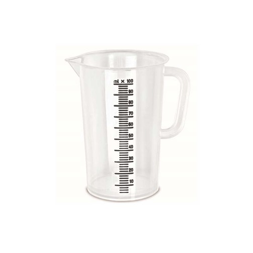Мерный пластиковый стакан объем 100 мл  (арт. W.400.01)